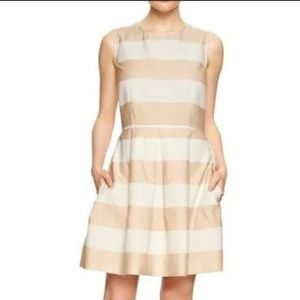 GAP Fit and Flare Striped Dress Size 6